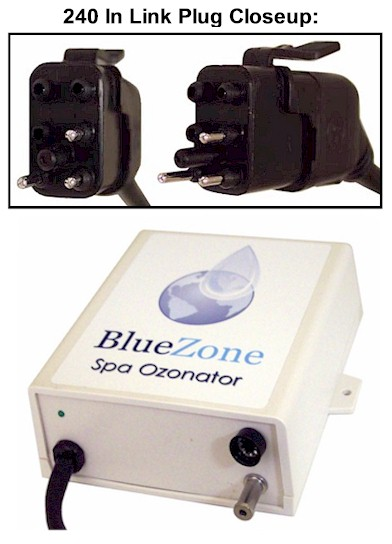 BlueZone Ozonator with 240V In Link Plug