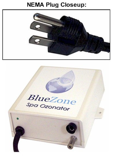 BlueZone Ozonator with NEMA Plug