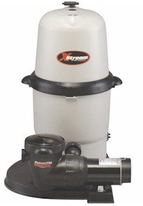 Hayward 100 square foot XStream Full-Flo Filter with 1 HP Power-Flo Matrix Pump