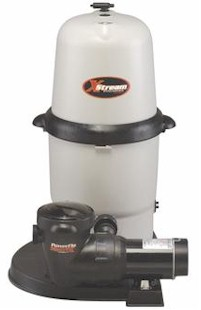 Hayward 150 square foot XStream Full-Flo Filter with 1.5 HP Power-Flo Matrix Pump