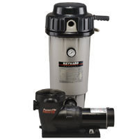 Hayward 20 square foot Perflex D.E. Filter with 1 HP Power-Flo Matrix Pump with Base Hose Kit