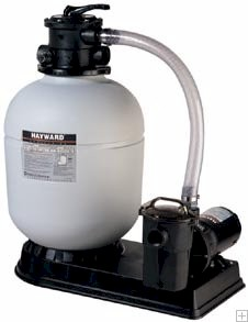 Hayward 16 inch Pro-Series Sand Filter with 1 HP LX Pump and Hoses