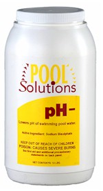 Pool Solutions PH decrease 12 lbs