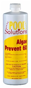 Pool Solutions Algae Control 50, Pool Solutions Algae Prevent 60