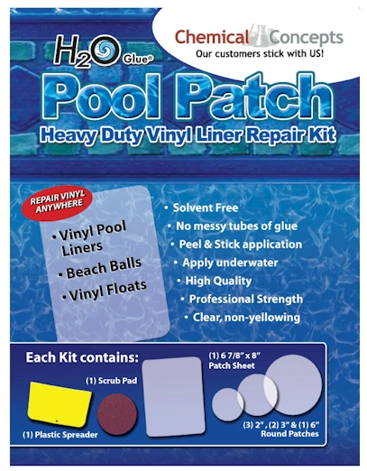 Peel and Stick Underwater Vinyl Pool Patch