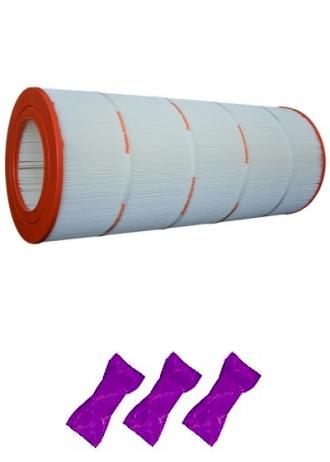 Compatible CFT 200 Filter Cartridge With 3 Pleatco Washes